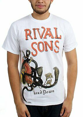 Authentic RIVAL SONS Band Head Down Album Cover Logo T-Shirt White S-2XL NEW