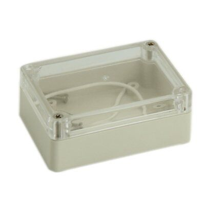 85x58x33mm Waterproof Clear Cover Plastic Electronic Cable Project Box Enclos FP