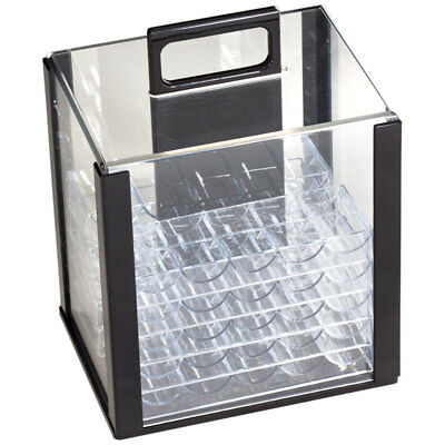 1000PC Acrylic Chip Case/ 1000 Count Chip Carrier w/ 10 Chip Trays. Ship Free!