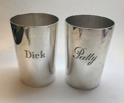 Pair Of Vintage TIFFANY & CO. Heavy Sterling Silver Tumblers