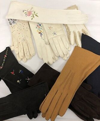 Vintage Assorted Lot of 12 Womens Ladies Gloves, 1950s/1960s, Resale