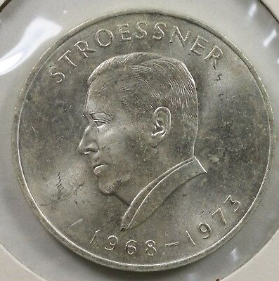 1973 Paraguay 300 Guaranies Large Silver Coin