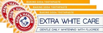 Arm & Hammer Extra White Complete Care, Baking Soda Toothpaste, 125g, x3