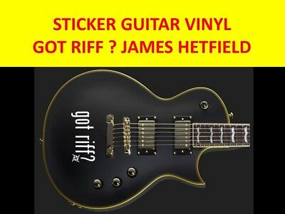 Got Riff ? White Stickers Guitar Hetfield Metallica Visit Our Store Custom Decal