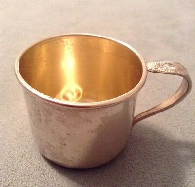 VTG Prelude Baby Cup Gilt Interior International Sterling Silver