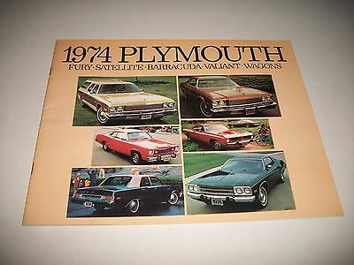 1974 Plymouth Cdn Issue Sales Brochure Fury Satellite Barracuda Valiant Wagons