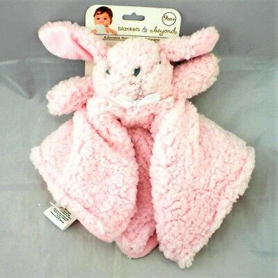 Pink Fluffy Plush Bunny Security Blanket Blankets & Beyond NuNu Lovey NWT