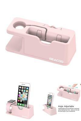 Charging Dock Stand For Apple Watch Series 2 1 & iPhone 6 7Plus w/ Cradle Holder