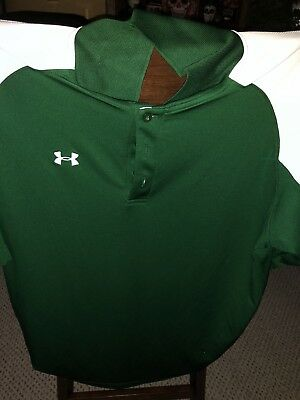 UA Under Armour Men's Golf Polo Loose Fit Small Green New With Tags