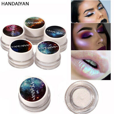 NEW Highlight Whitening Pigment Silver Shine Glow Colorful Highlighter Palette