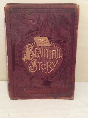 Incredibly Rare 1888 Antique / Vintage Salesman Story Bible-The Beautiful Story