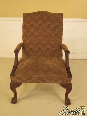 43078: LEXINGTON Ball & Claw Mahogany Chippendale Library Chair