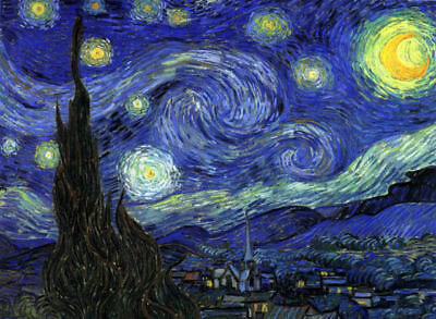 Dream-art Oil painting Vincent Van Gogh - The Starry Night - abstract landscape
