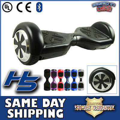 UL Certified Electric Hoverboard Smart Self Balancing Scooter LED Bluetooth