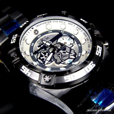 Invicta Star Wars Storm Trooper 52mm Limited Edition Black Steel Watch New