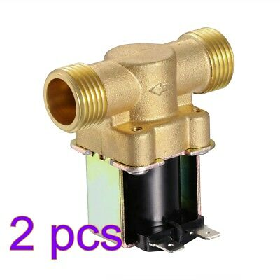 "AC 12V Normally Closed Electric Solenoid Valve Water Air 1/2"" Brass N/C 2-Way AU"