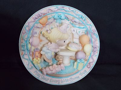 Precious Moments - May Your Every Wish Come True - 3D Plate - Happy Birthday