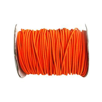 4mm 10 Meters Elastic Bungee/Shock Cord Marine Rope UV Resistant - Orange