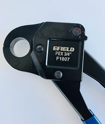 Efield PEX Crimping Tool 3/4-inch Crimper Piler Angle with free GO NO GO Gauge