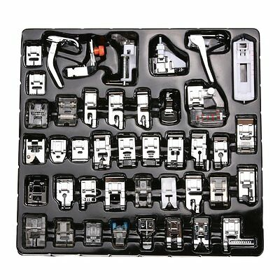 US 42pcs Sewing Machine Accessories Foot Presser Feet Set for Brother Singer