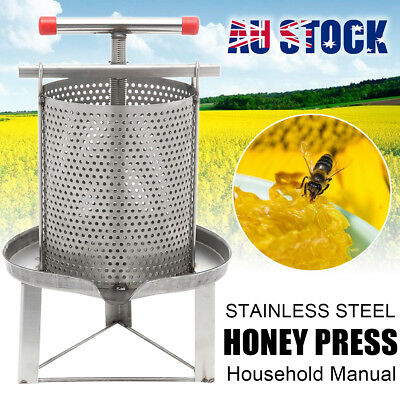 Net Hole Household Manual Stainless Steel Honey Press Wax Machine Beekeeping