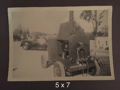 1947 Photo GE Generator for Searchlight w/ 41' Studebaker Champion in Background