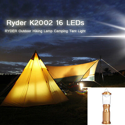Portable Outdoor Hiking Emergency Lamp Aluminum Alloy 16 LEDs Camping Tent Light