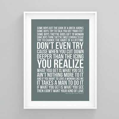 Tina Turner What You Get Is What You See Lyrics Poster Artwork Song Print