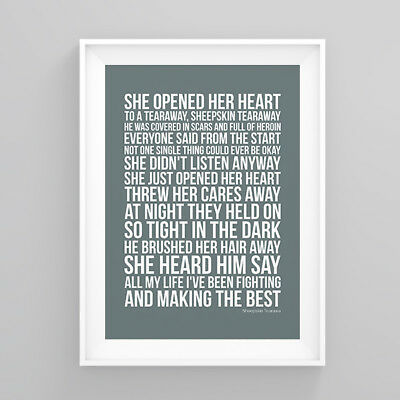 Pete Doherty Sheepskin Tearawa Lyrics Poster Artwork Song Print