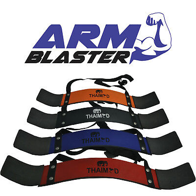 Fitness Weightlifting Arm Blaster Biceps Isolator Gym Support Strap Wraps Smoth
