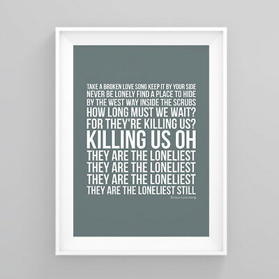 Pete Doherty Broken Love Song Lyrics Poster Artwork Song Print