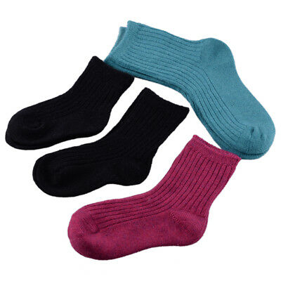 5 Pairs/Lot Infant Baby Toddler Boy Girl Kid Soft Cashmere Wool Thick Warm Socks