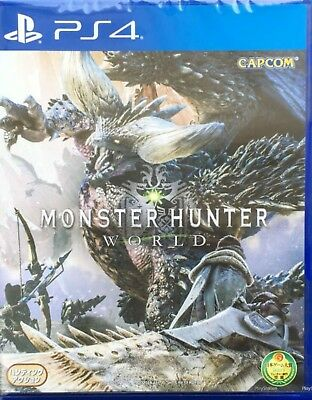 Monster Hunter World Asia Chinese/English etc subtitle PS4 NEW