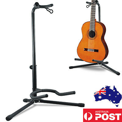 New Folding Electric Acoustic Bass Tripod Guitar Stand GIG Floor Rack Holder