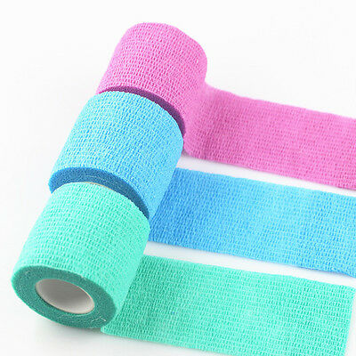 Pet Dog Bandage Elastic Vet Wound Hurt Cohesive Bandage Self Adherent Wrap COP