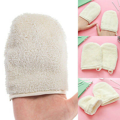 Reusable Microfiber Face Facial Cloth Towel Makeup Remover Cleansing Glove Tool*