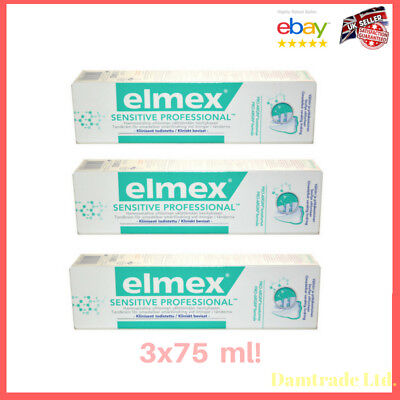 Elmex Sensitive Professional Pro Argin 3x75ml. Newest Formula!!
