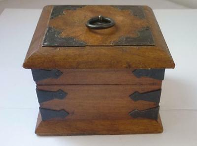Antique rosewood box Metal mounted Tabacco box 18th century