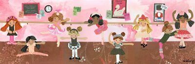 Oopsy daisy Ballet Class Stretched Canvas Wall Art by Winborg Sisters, 36 by