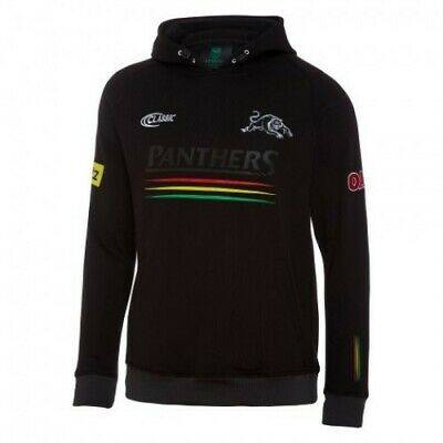 Penrith Panthers 2018 NRL Mens Hoodie Top Black BNWT Rugby League Clothes