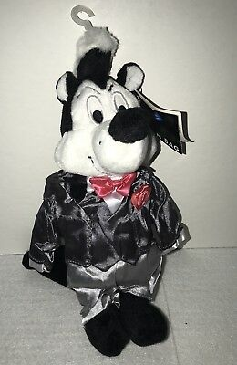 WB Store Looney Tunes Groom Pepe Le Pew Plush Bean Bag NWT