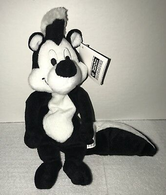 WB Store Looney Tunes Pepe Le Pew Plush Bean Bag NWT