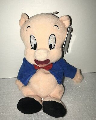 WB Store Looney Tunes Porky Pig Plush Bean Bag NWT