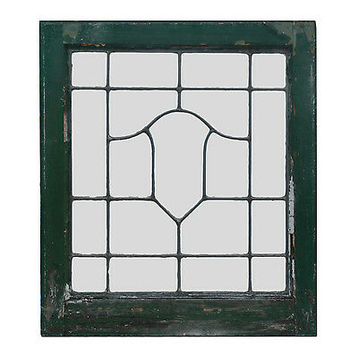 Antique American Leaded Glass Windows, 2 Available, NLG155