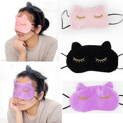 High 3D Soft Eye Sleep Mask Cute Cat Style Cover Rest Travel Relax Blindfold*