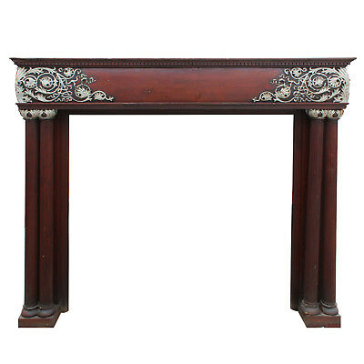 Antique Neoclassical Fireplace Mantel, Carved Foliate Details, NFPM169