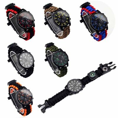 Outdoor Waterproof Paracord Watch Blacklight Wristwatch LED Fashion Outdoor