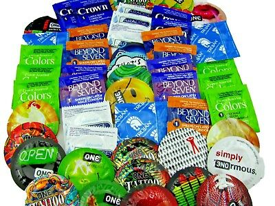 100 Condoms Premium Variety Mix-Trojan,Kimono,Beyond 7,One,LifeStyles,Crown&More