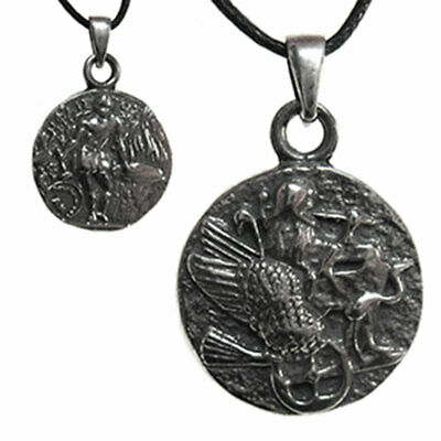 Hephaestus Olympian Pendant NEW Greek Roman Coin Pewter Amulet w/ Cord Vulcan
