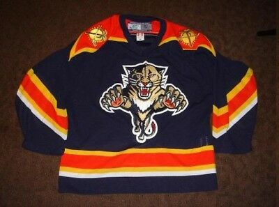 39e1a4adf29 REEBOK AUTHENTIC NHL Jersey Florida Panthers Scottie Upshall Navy sz ...